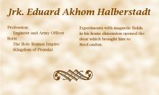 Jrk. Eduard Akhom Halberstadt biography