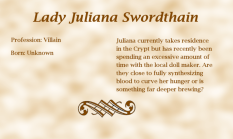 Lady Juliana Swordthain biography