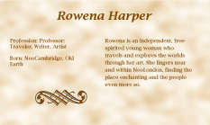 Rowena Harper biography