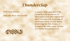 Thunderclap biography