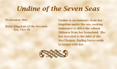 Undine of the Seven Seas - biography