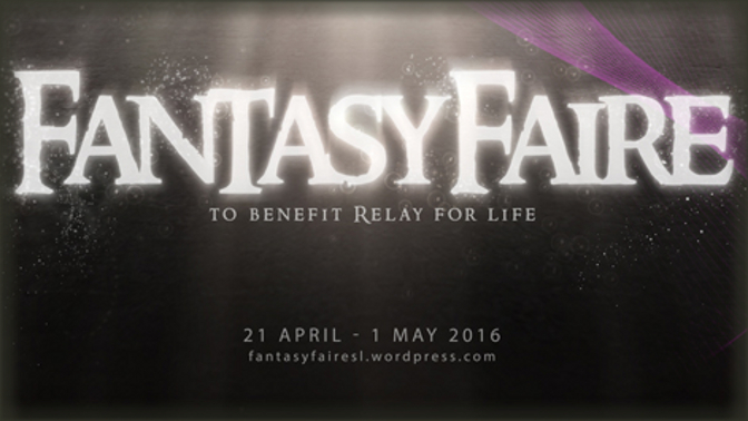 Our Relay-for-Life Gifts for Fantasy Faire 2016