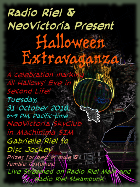 Advert for 2018 Halloween Event